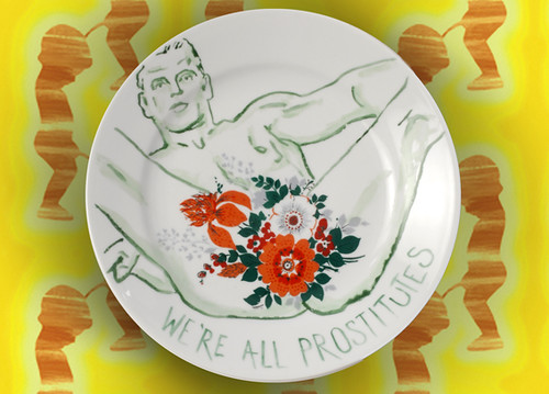 Ceramixed Plate: We're All Prostitutes