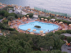 resort town, swimming pool, leisure, resort, aerial photography, park,