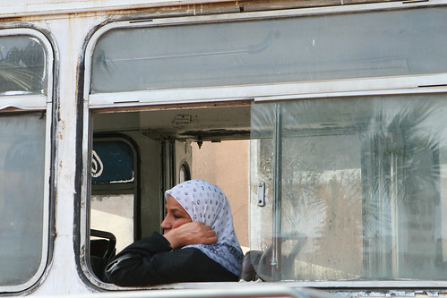 Woman on Bus in Cairo