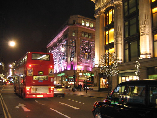 Oxford St On A December Night