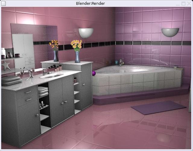 salle de bain rose encore merci blender by gamy