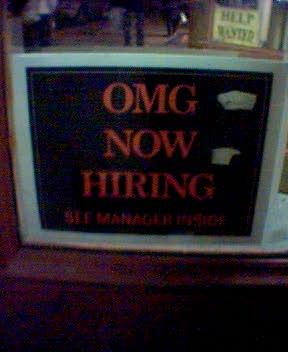 Omg now hiring