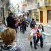 Small photo of Alex watching schoolchildren on the Plaka