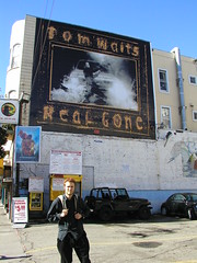 tom waits poster in north beach