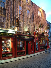 The Temple Bar at Christmas