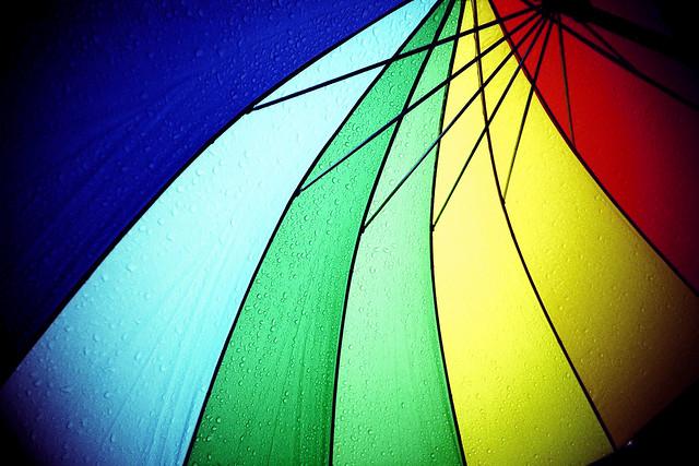 rainbow umbrella by lomokev