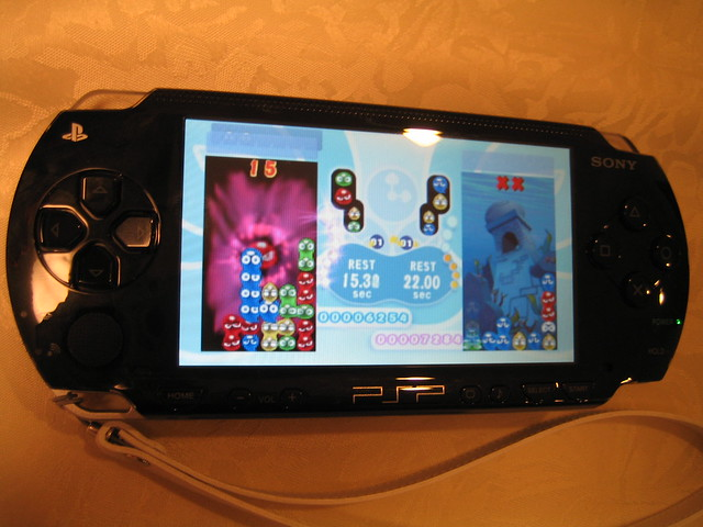 Puyo puyo game demo, Canon IXY DIGITAL 50