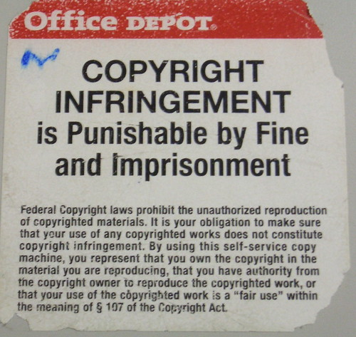 Office Despot copyright warning, Hollywood, Florida