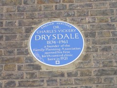 Photo of Charles Vickery Drysdale blue plaque