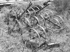 Old Rusty Farm Equipment