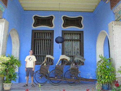 Cheong Fatt Tze's mansion - Jody by some rickshaws