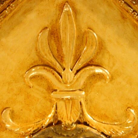Fleur de Lis Ceiling Detail