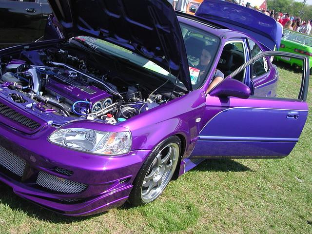purple honda civic purple honda civic   carlisle car flickr
