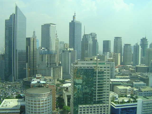 Makati City Philippines View From The Condo Manila 39 S Cbd Flickr Photo Sharing