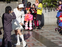 another picture of weekend freaks in Harajuku