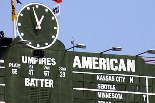 Wrigley Field's centerfield scoreboard