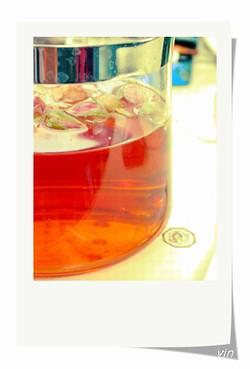 美麗的玫瑰花紅茶