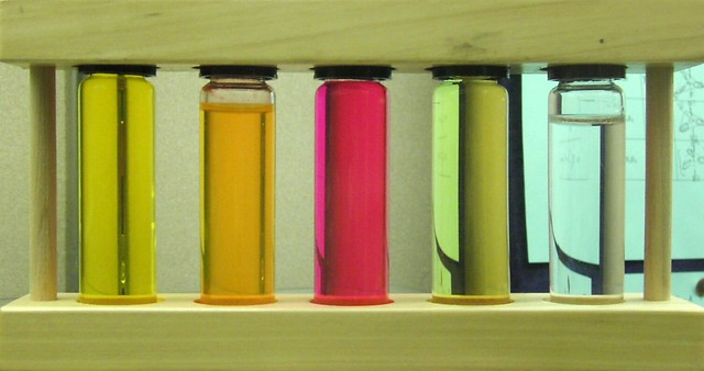 colored test tubes color technology