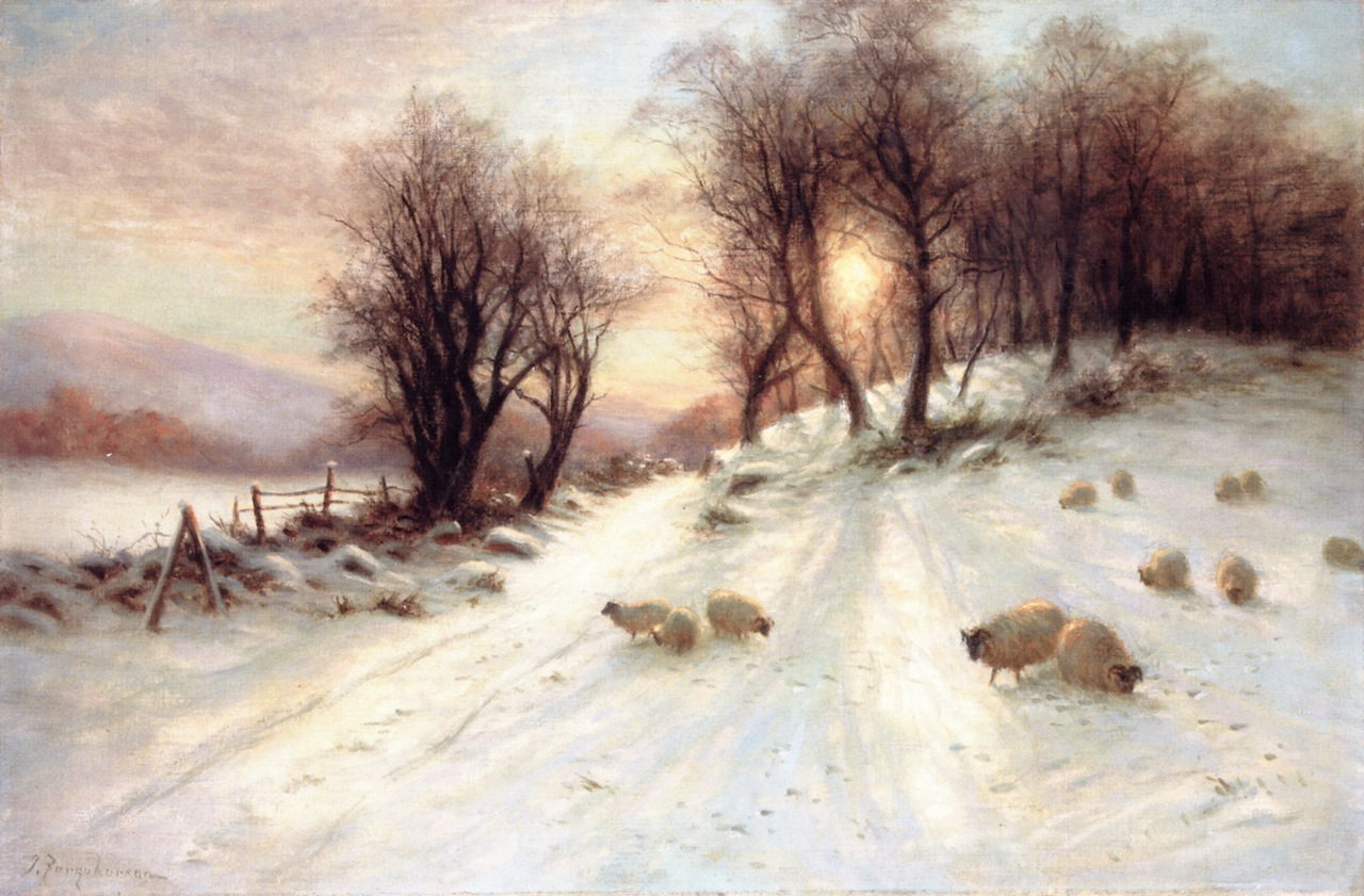 The Day Was Sloping towards His Western Bower by Joseph Farquharson, 1912