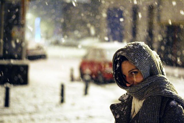 Elisa in the snow