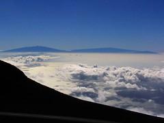 The Big Island from Maui, as seen from Haleakala Visitor Center, Haleakala National Park, Maui, Hawaii