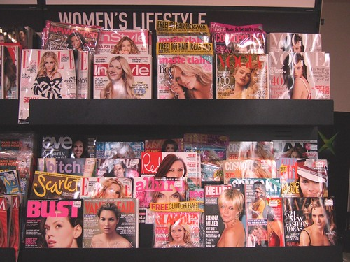 Funny how women's magazines have women on the front cover yet...