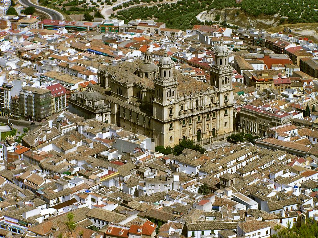 Catedral de Jaén desde el Castillo de Santa Catalina