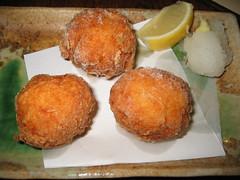 fish(0.0), kibbeh(0.0), frikadeller(0.0), produce(0.0), croquette(1.0), fried food(1.0), cutlet(1.0), arancini(1.0), rissole(1.0), korokke(1.0), food(1.0), dish(1.0), cuisine(1.0), fast food(1.0),