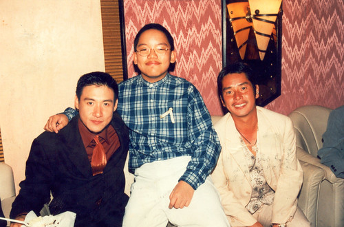 With Jacky Cheung and Alan Tam