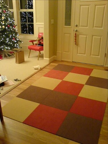 neutral block carpet