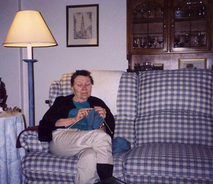 Mum in AZ knitting