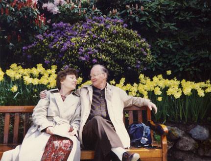 Mum and Dad Butchart Gardens BC