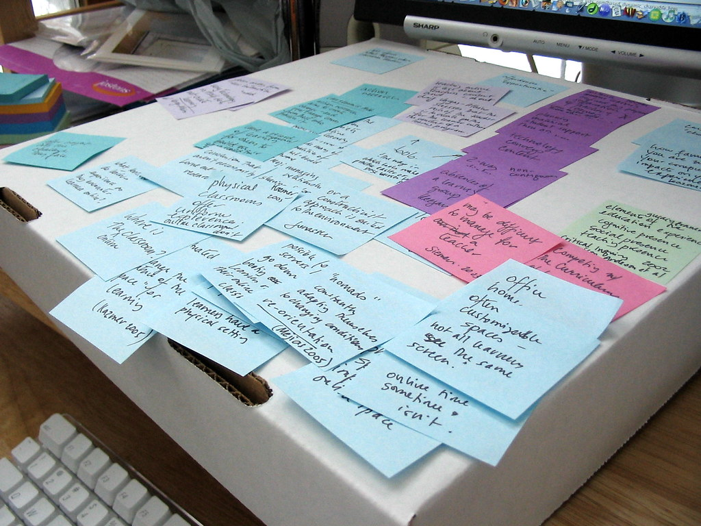 Notes on Box on Carolyn's Desk