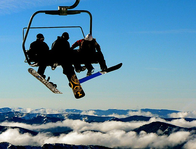 Snowboarders At Timberline