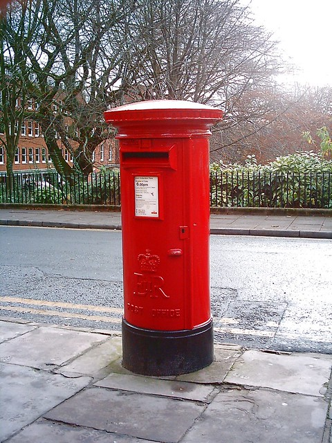 Post Box/Mail Box. Winckley Square,North-Side.