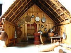 furniture, wood, log cabin,