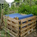 The finished compost bin