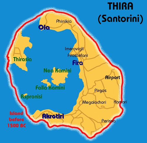 the thera volcanic eruption The minoan eruption of thera, also referred to as the thera eruption, santorini  eruption, or late bronze age eruption, was a major catastrophic volcanic  eruption.