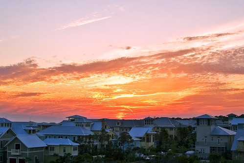 wedding sunset sky orange sun landscape seaside florida outtake splendiferous