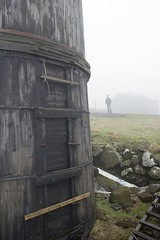 Gásadalur silo + silhouette