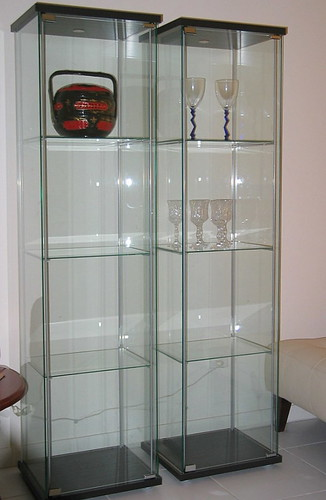 Here 39 s my ikea detolf glass cabinet my women stuff - Ikea glass cabinets ...