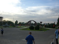 Victory Square at the evening