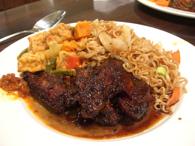 Soy Sauce Chicken and Tofu Curry with Fried Noodles - Bali Bowl ...