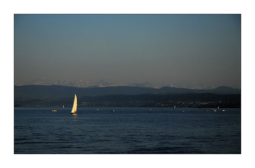 sailing on lake of Zurich