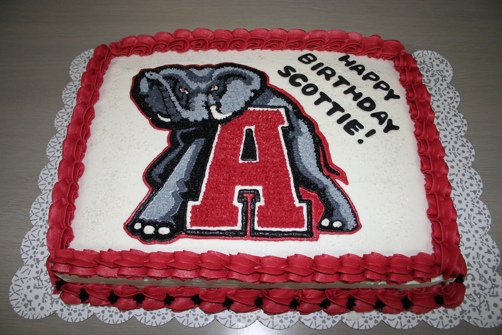 Alabama Crimson Tide Cake a photo on Flickriver
