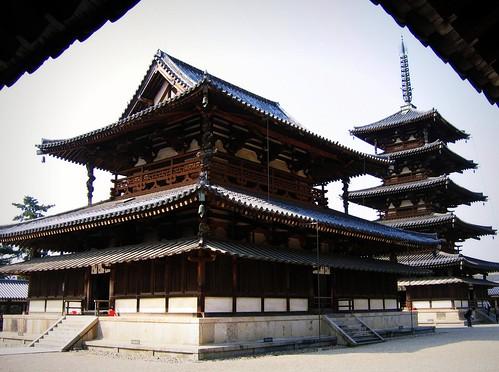 Horyu-ji: Kondo & Gojunoto - 無料写真検索fotoq