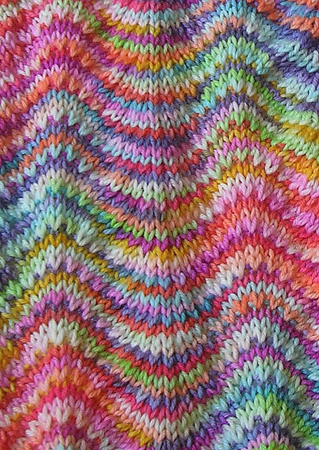 Ripple Stitch Knitting Pattern Scarf : Chevron Scarf from LMKG - Close Up Flickr - Photo Sharing!