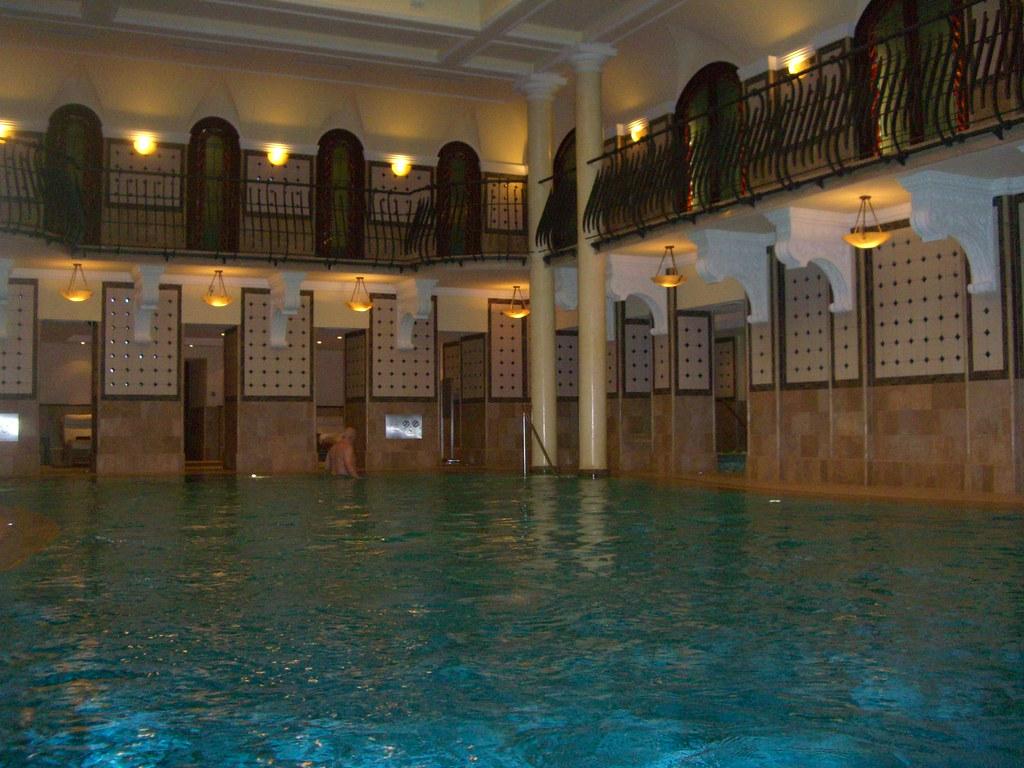 the pool at the Grand Royal Hotel Corinthia