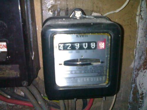 Electricity meter / kilowatt hours