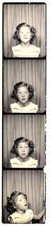 Little girl photobooth strip